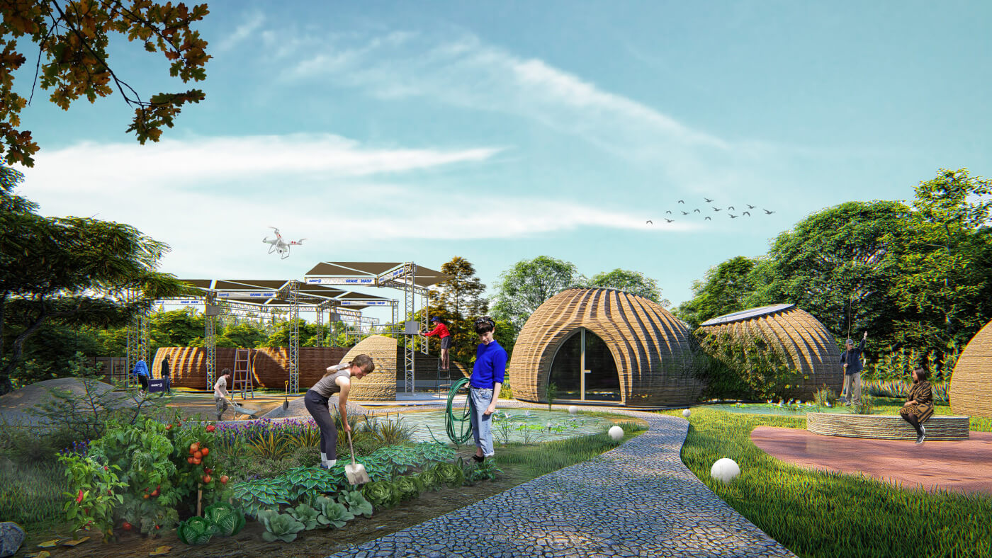 A home 3d-printed from local soil by Mario Cucinella Architects