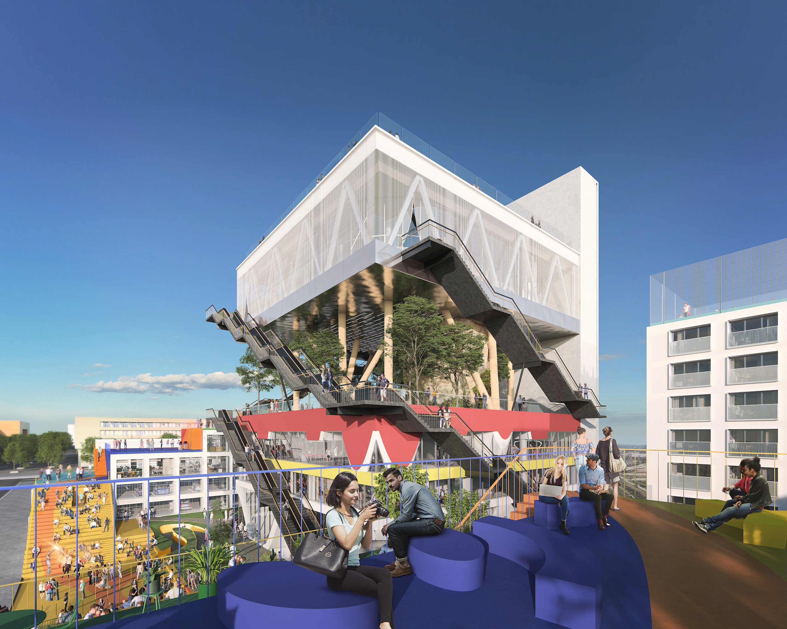 image of expo-pavilion-turned-coworking-space by mvrdv in Hanover
