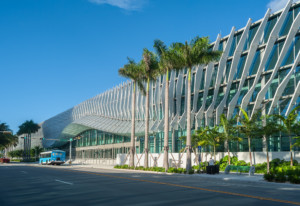 miami beach convention center with undulating fins