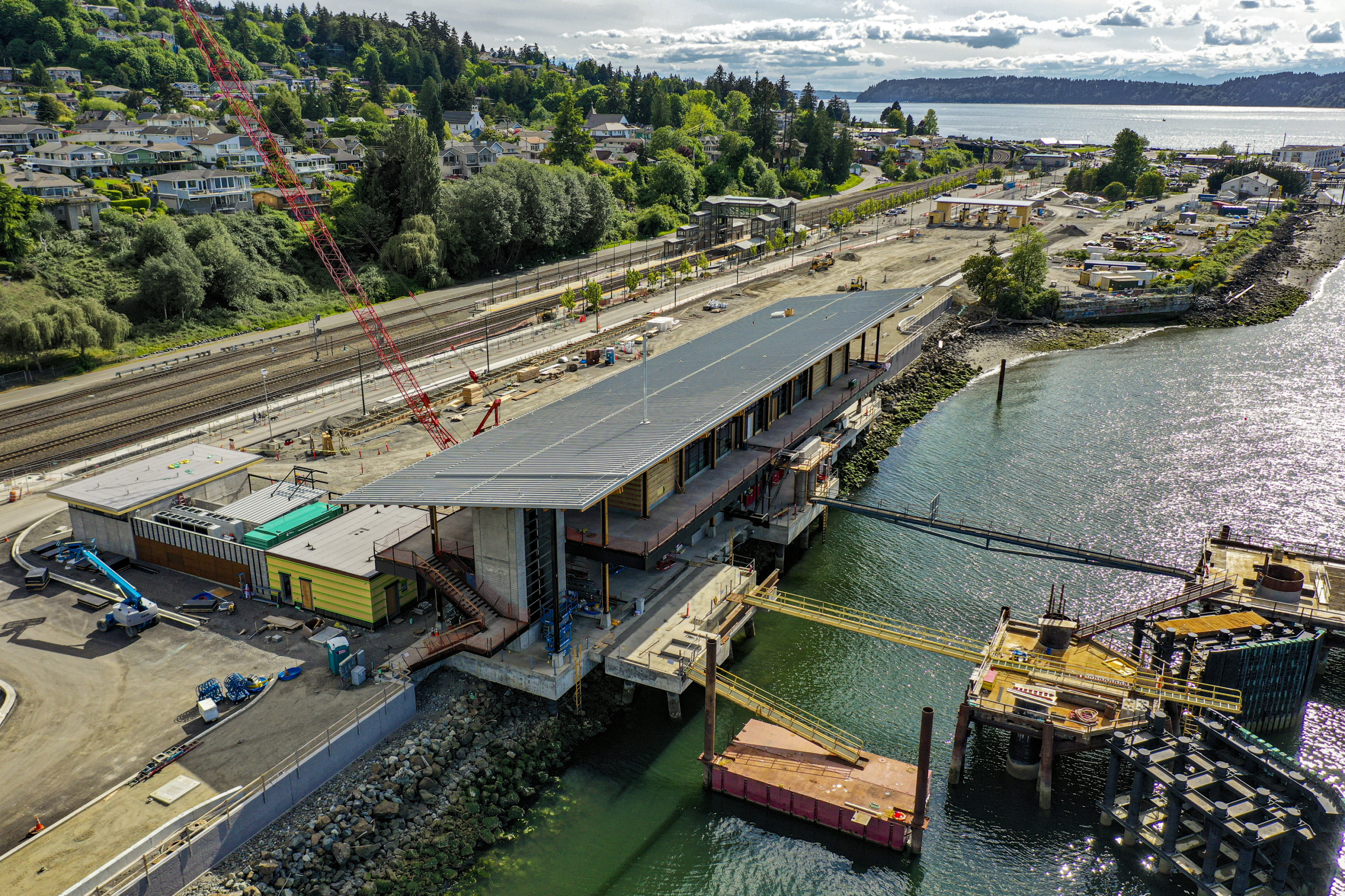 construction photo of Mukilteo Ferry Terminal