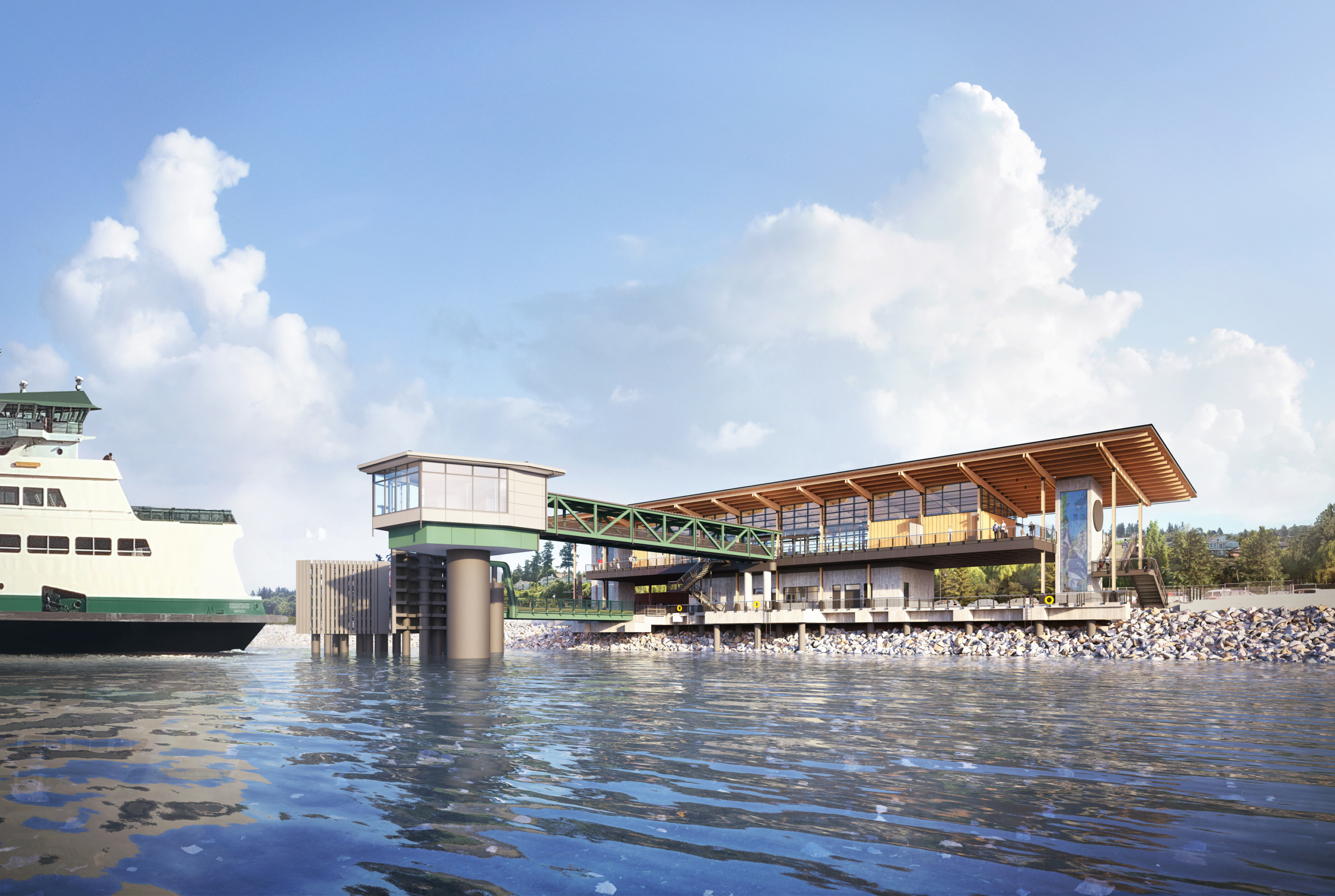 rendering of Mukilteo Ferry Terminal