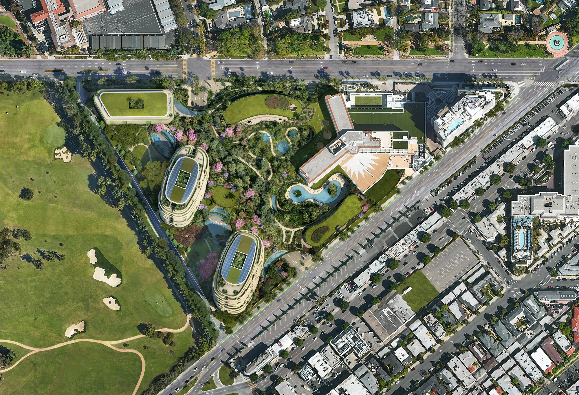 site plan for One Beverly Hills