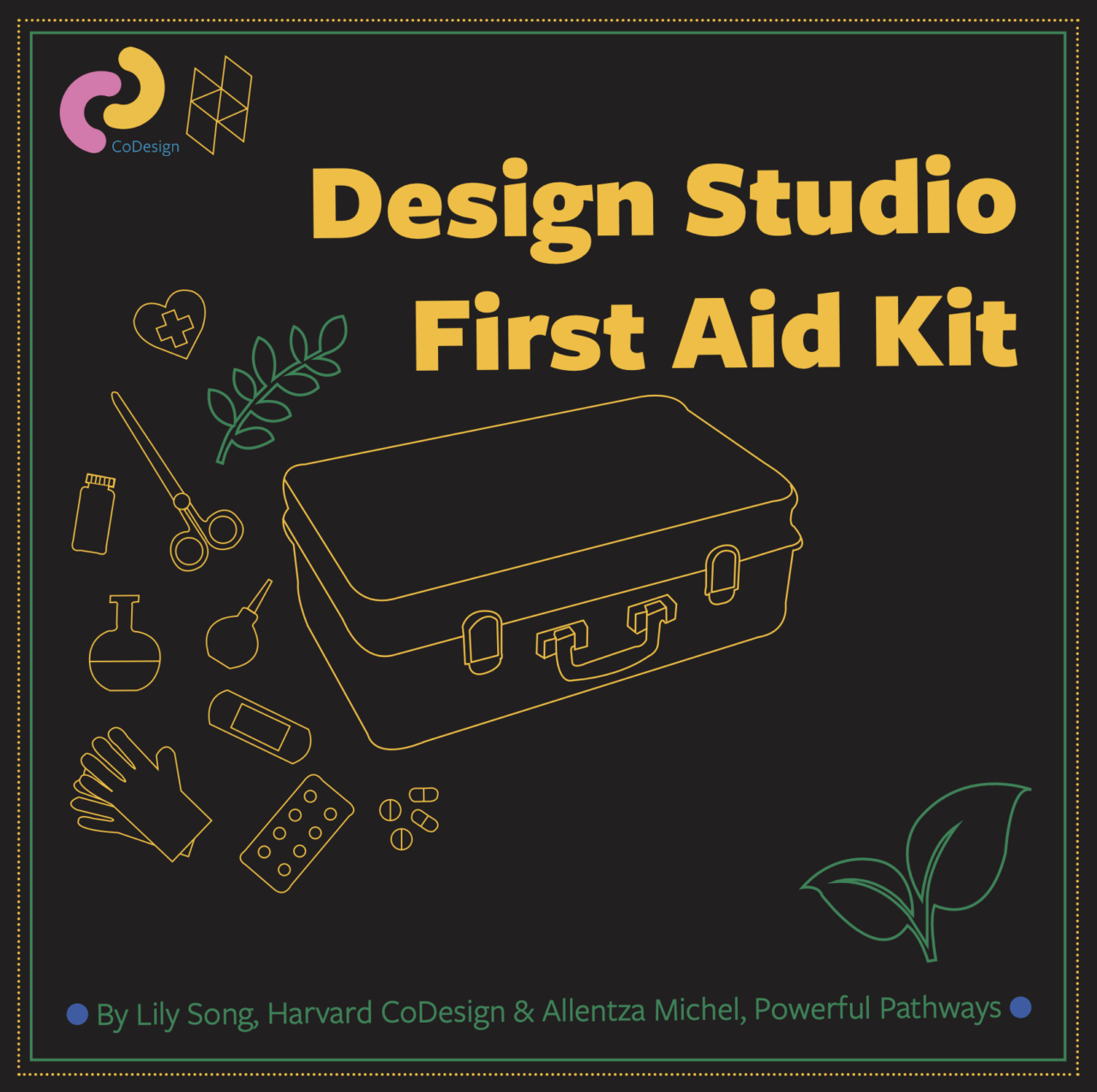 Illustration of The cover of GSD CoDesign's Design Studio First Aid Kit