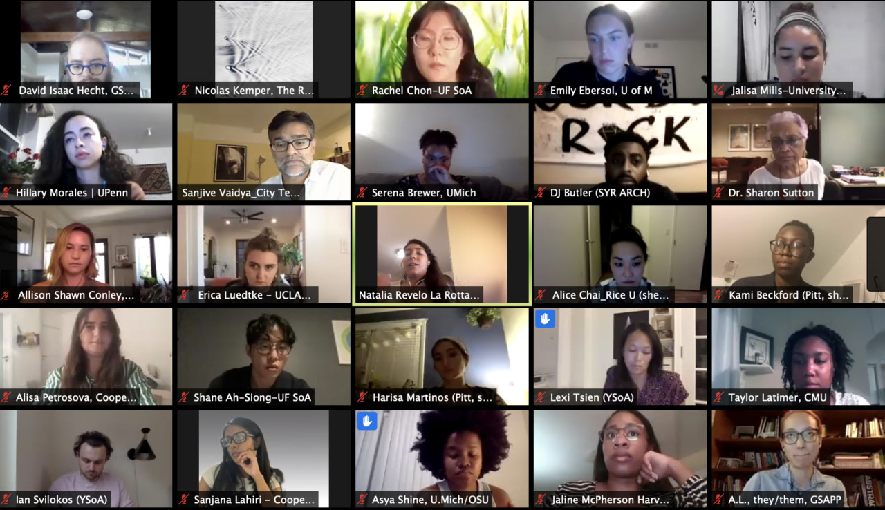 Screenshot from the New Grounds for Design Education virtual conference