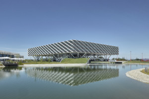 Image of the Adidas World of Sports Arena within corporate campus