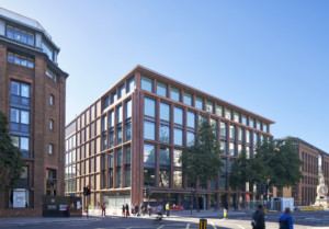 4 Cannon Street adjacent to Bracken House and clad in red sandstone