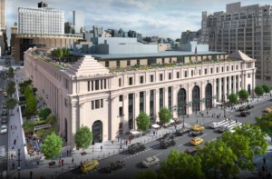 Rendering of the Farley Post office in Manhattan