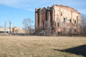 an abandoned building in gary, indiana; the abandoned gary memorial auditorium