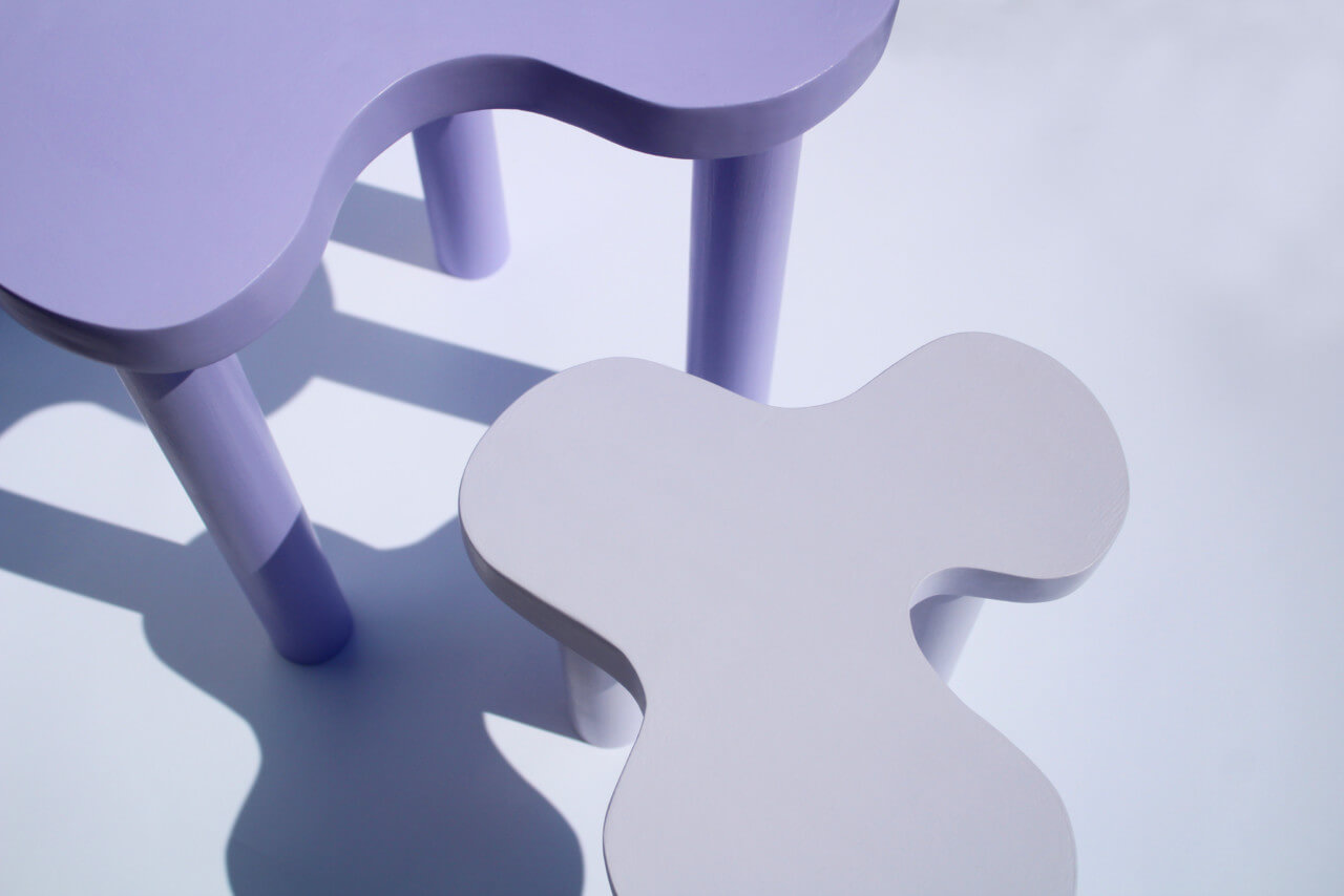 Photo of purple short tables