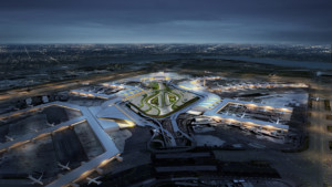 Rendering of a new unified JFK Airport