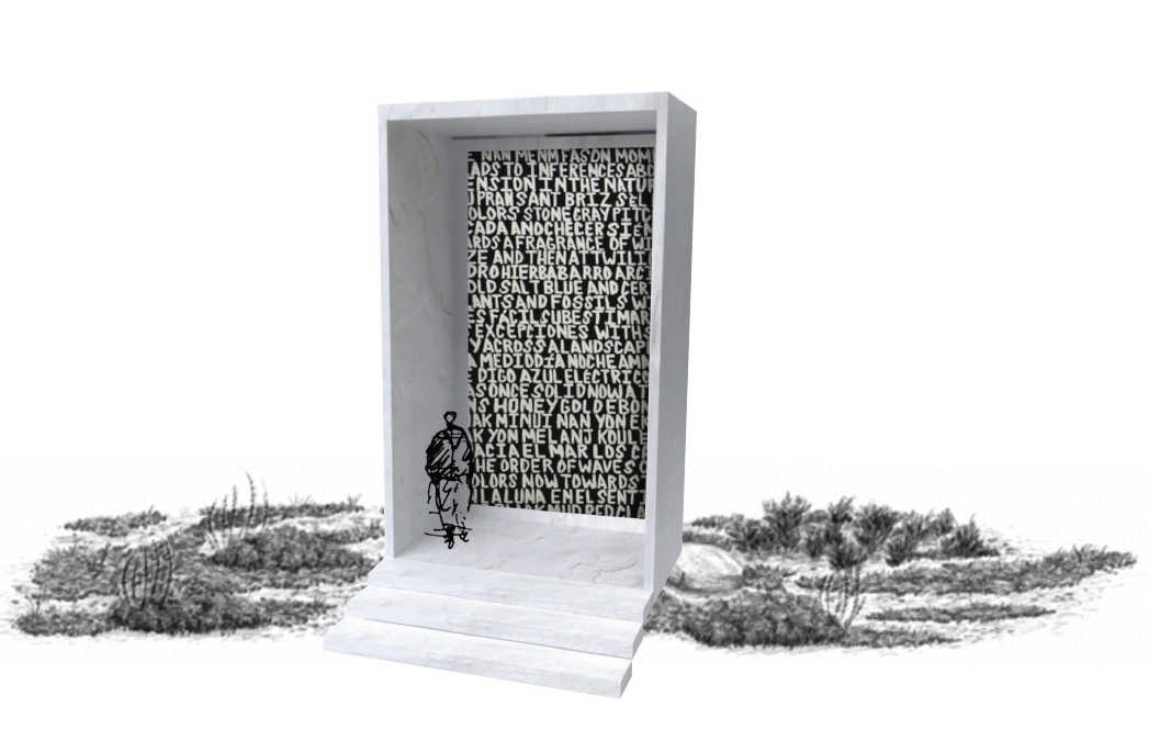 Rendering of Xaviera Simmons's The structure the labor the foundation the escape the pause