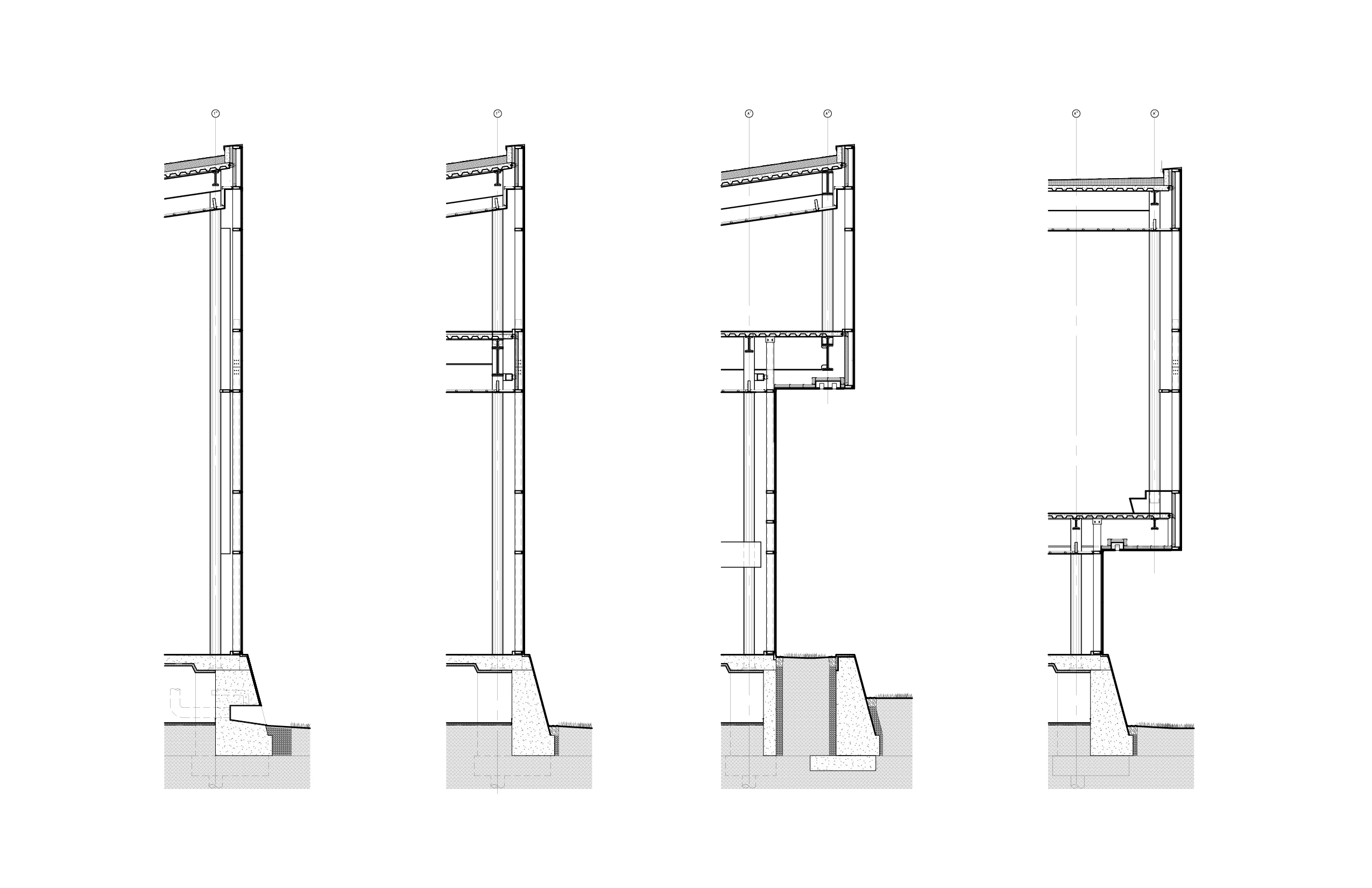 Section of the facade system consisting of prefabricated, four-sided structural silicone glazing cassette system