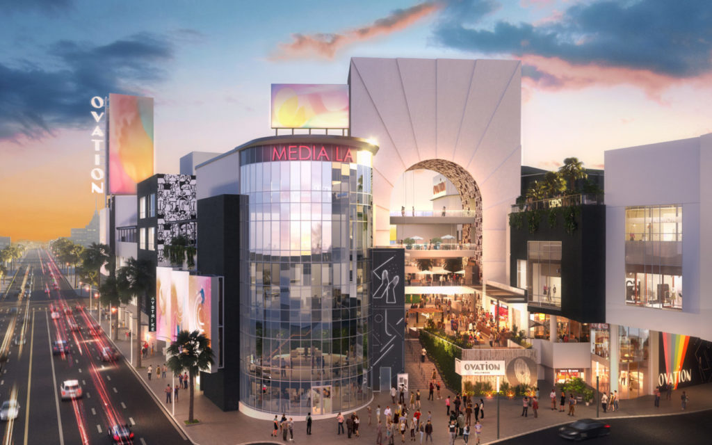 rendering of ovation hollywood