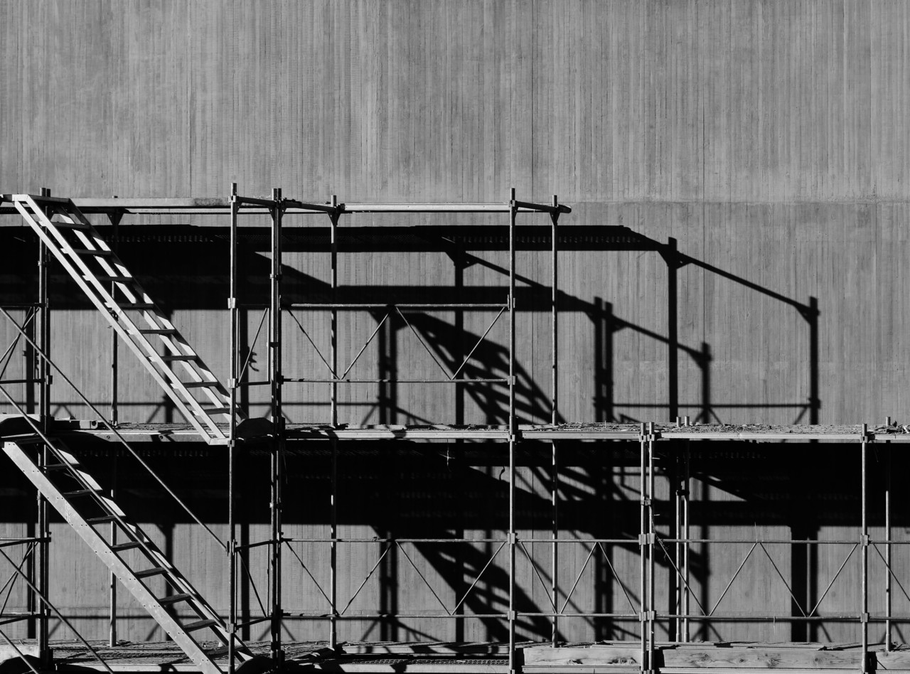 Photo of an empty construction site