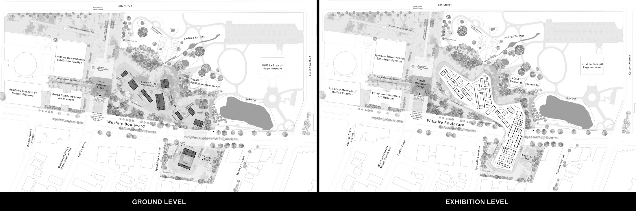 plan of contemporary museum building for the new LACMA