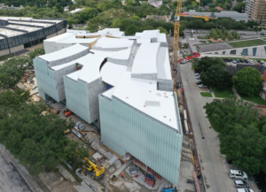 Aerial image of the Nancy and Rich Kinder Building in Houston