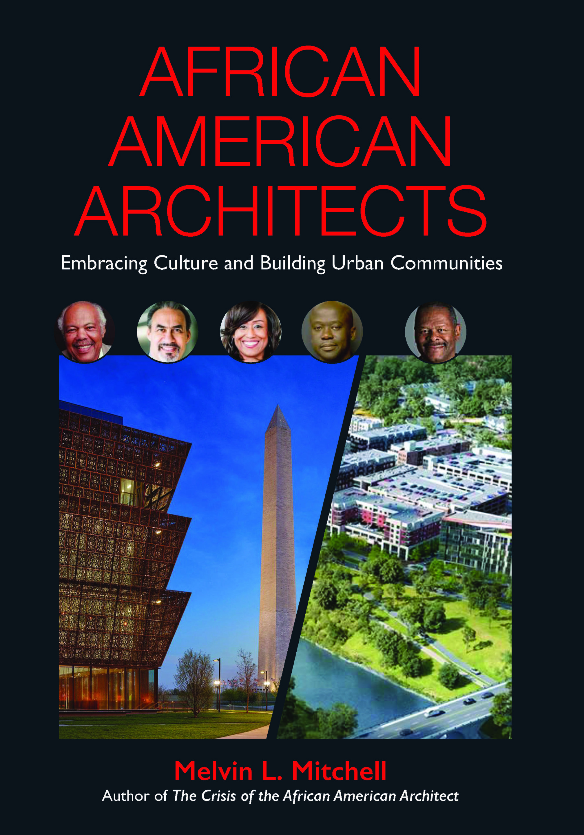 A cover of a book reading African American Architects: Embracing Culture and Building Urban Communities