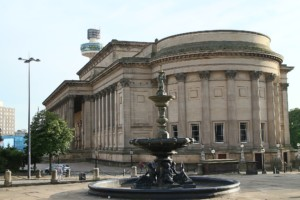 a historic library building in liverpool, england