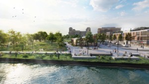 illustration of waterfront revitalization project in Chester, Pennsylvania