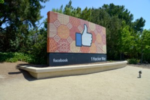 Photo of a Facebook campus sign