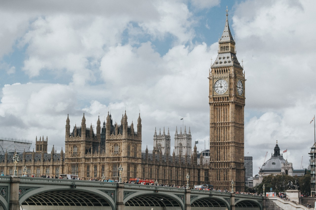 Photo of Big Ben in London, not an example of british housing