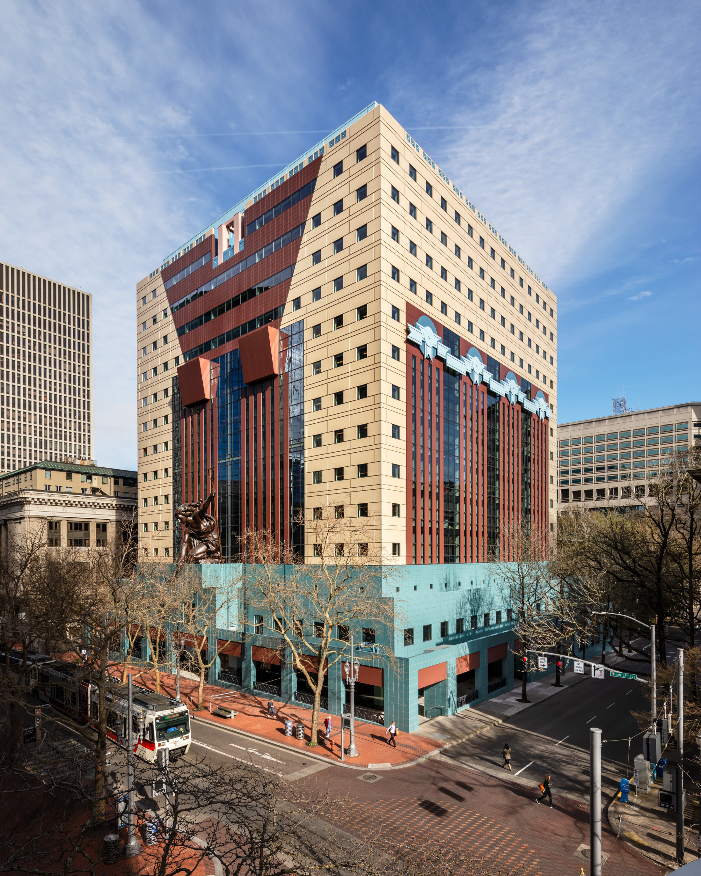 Contextual image of the Portland Building within Downtown Portland