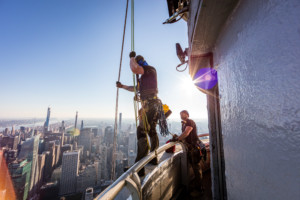 Image of installers repairing the Empire State Building