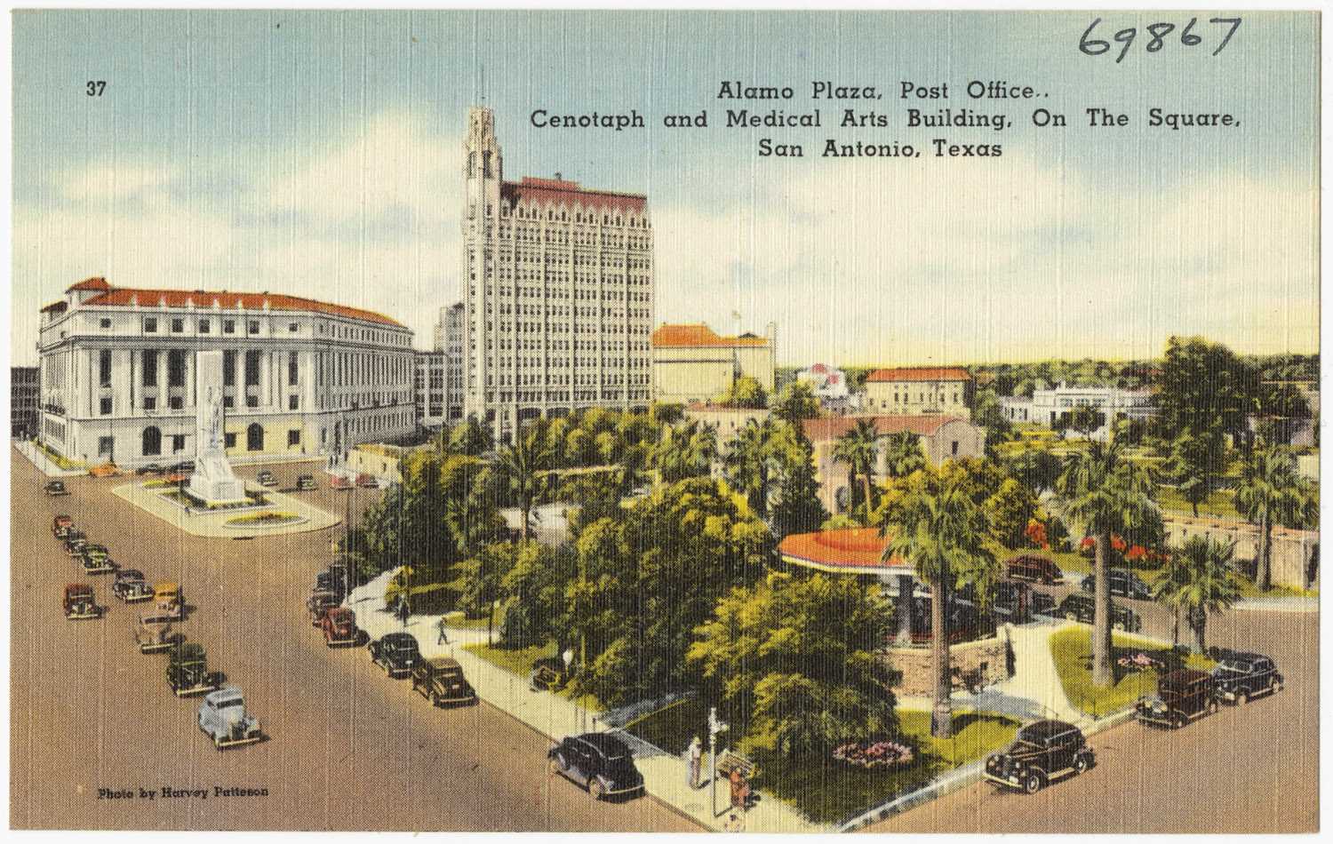 vintage postcard of san antonio
