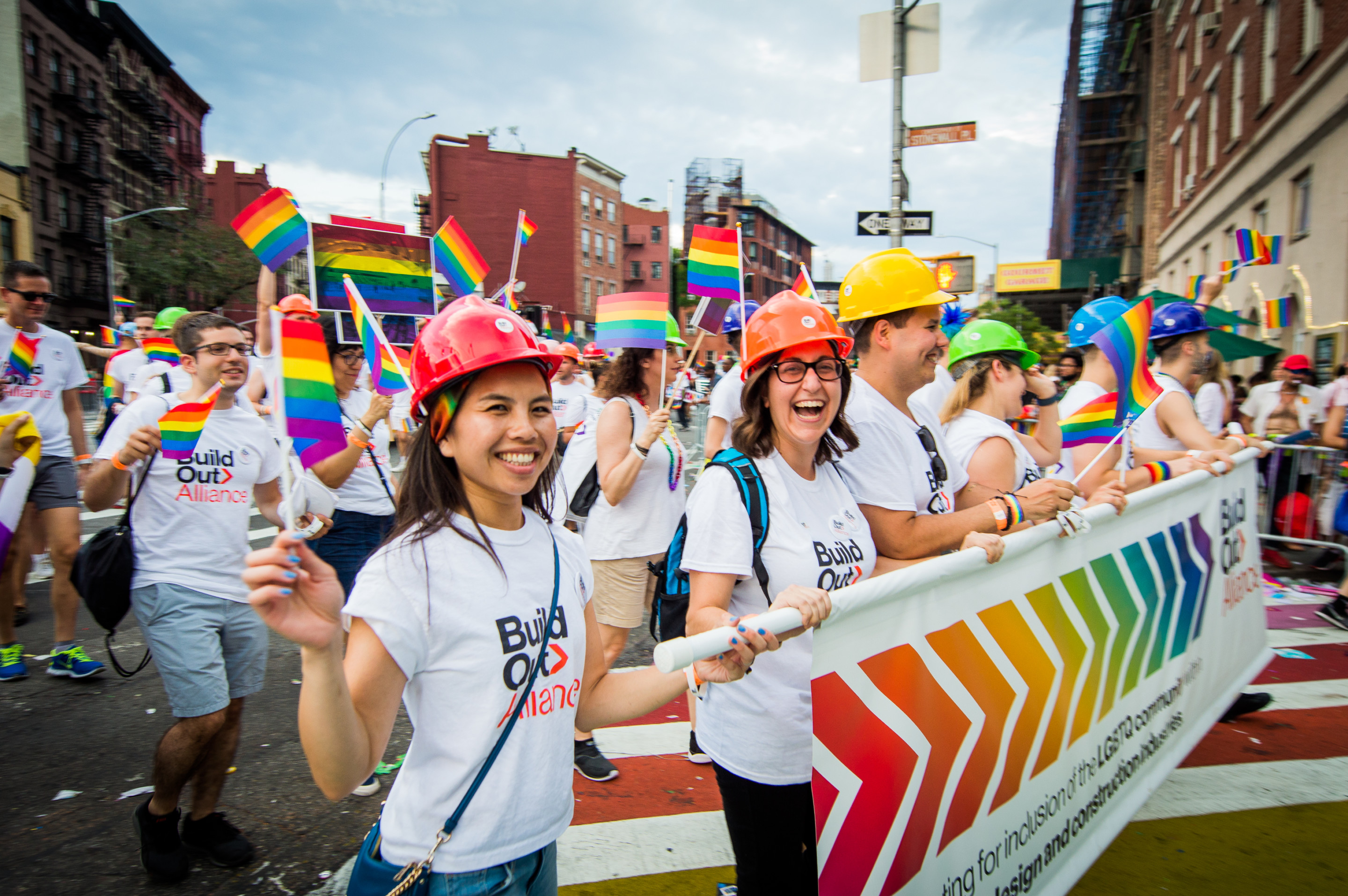 Architects marching for LGBTQ+ diversity in the profession
