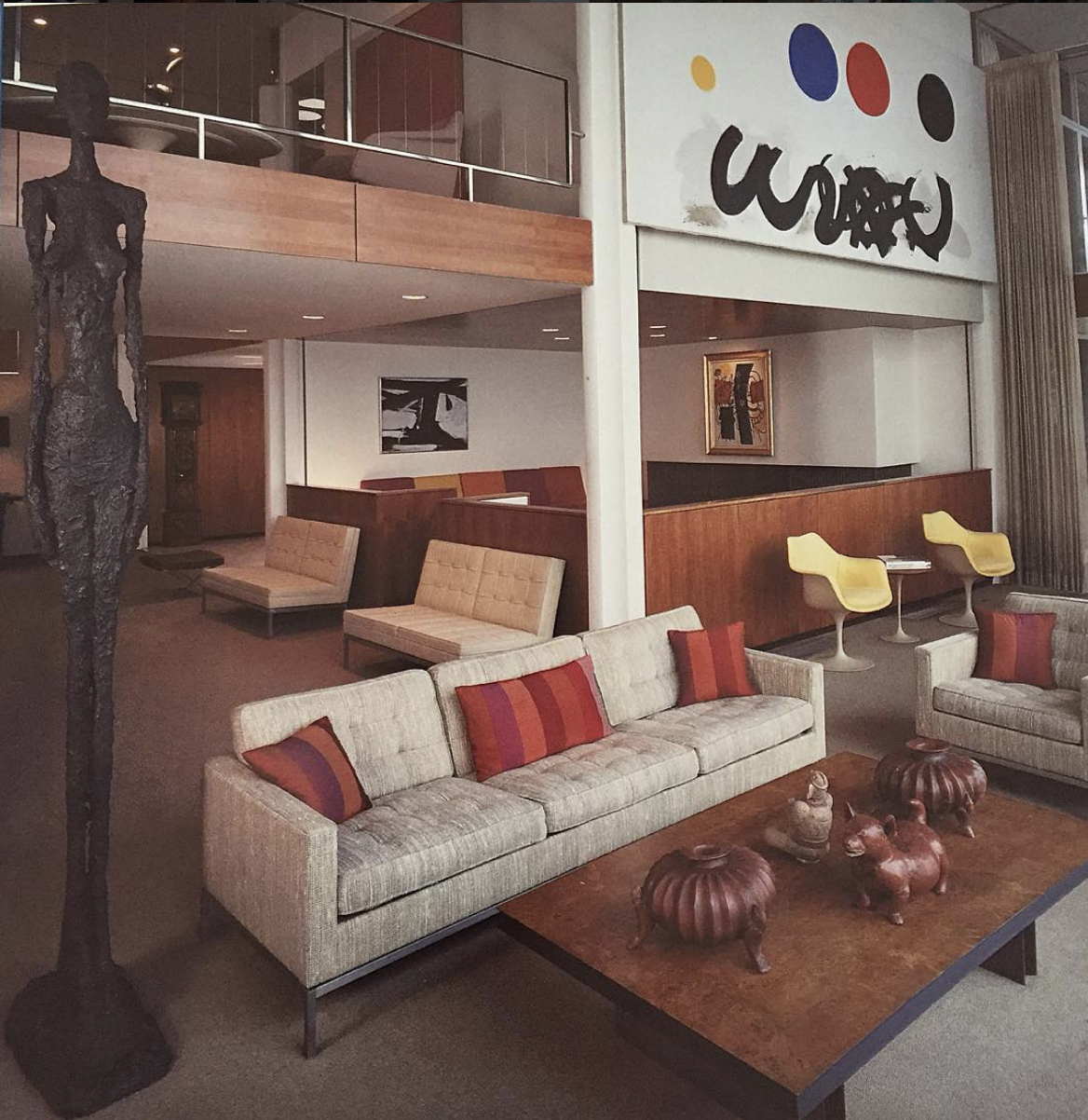 archival photo of modernist home interior