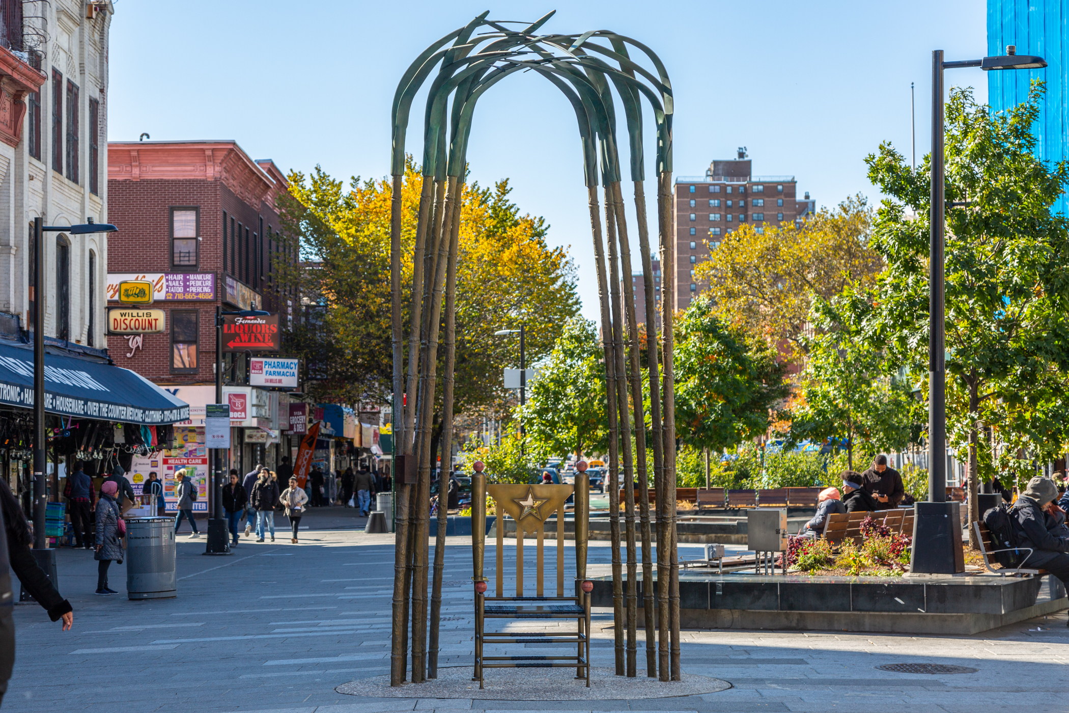 photo of a public art installation and chair, one of the Awards for Excellence in Design winners