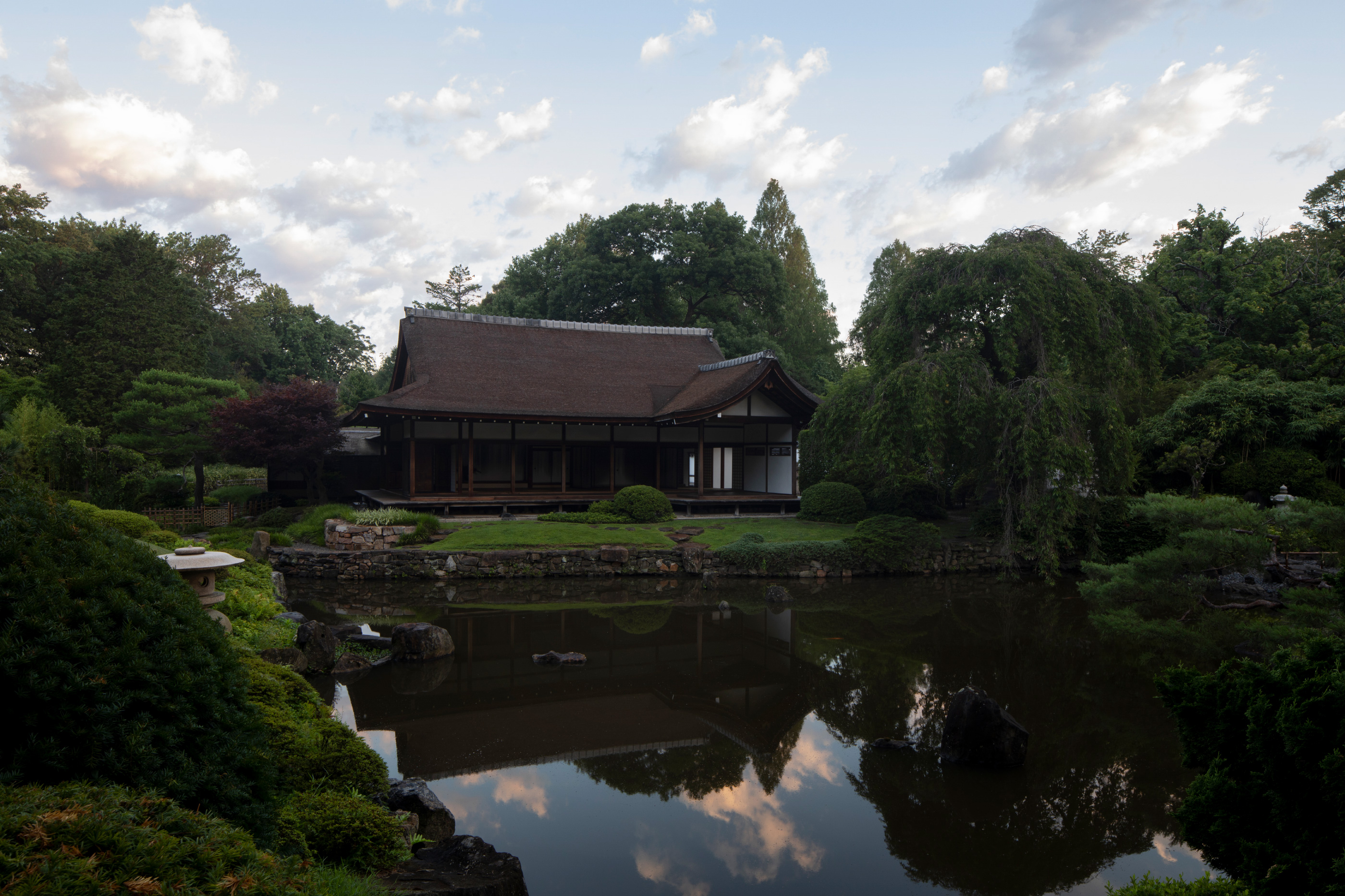 A 17th-century japanese home sited in a park