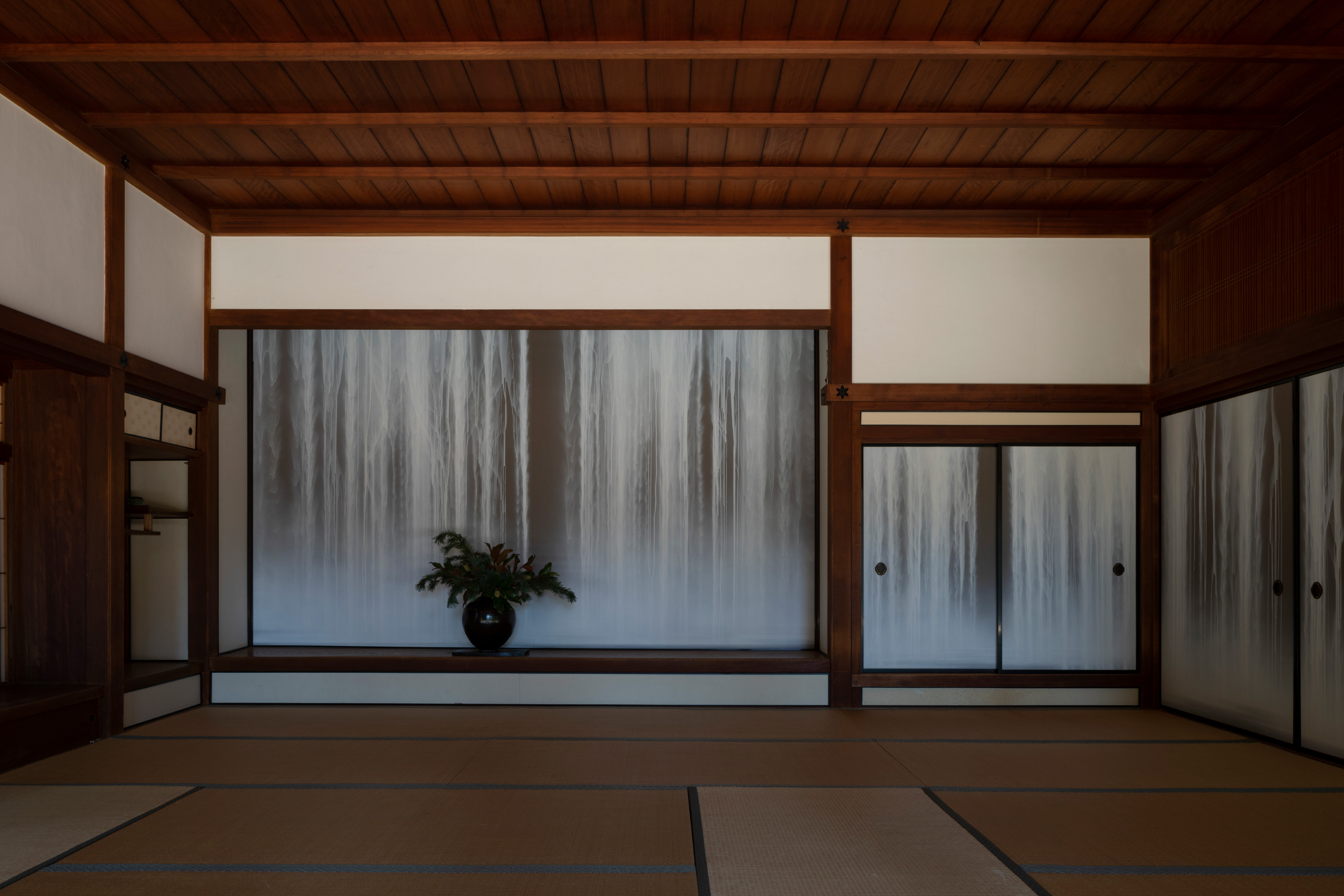 The interior of a 17th-century-style home, without the Shofuso and Modernism show