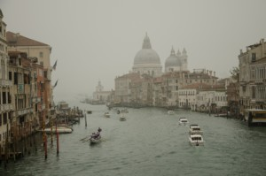 An inlet in venice, that would eventually be protected by the MOSE project