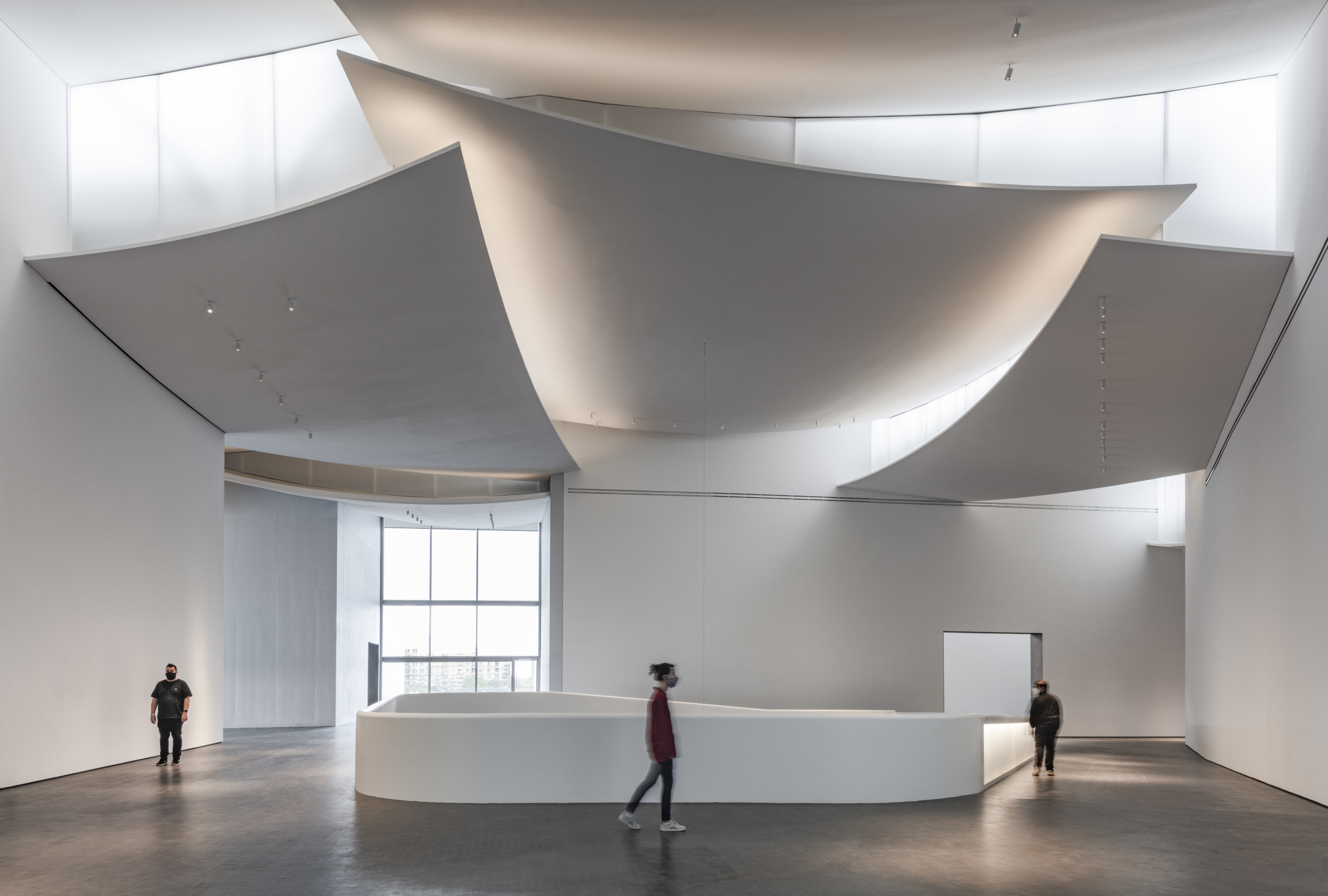 The interior of the Kinder Building at MFAH