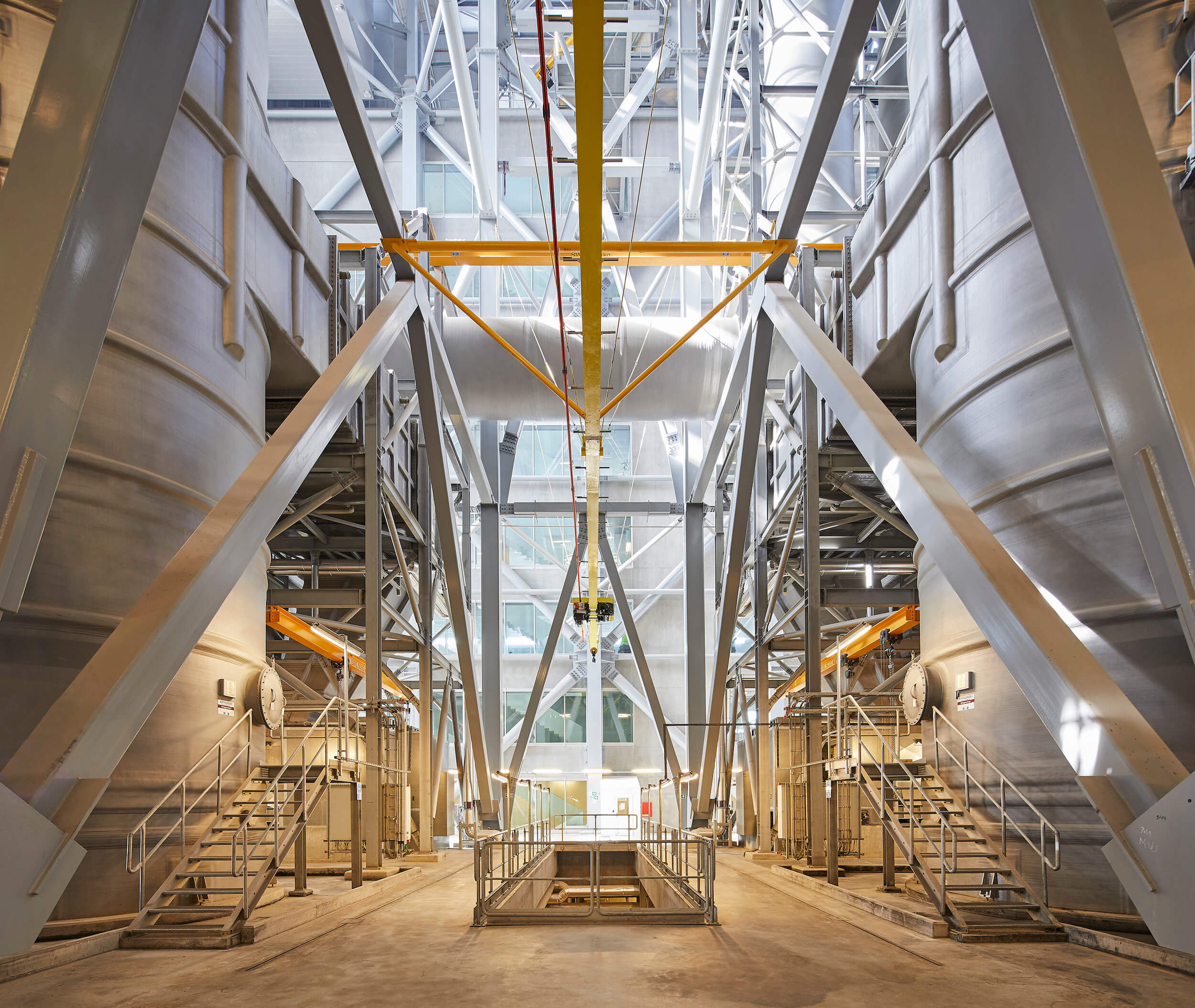 inside of a waste-to-energy power plant