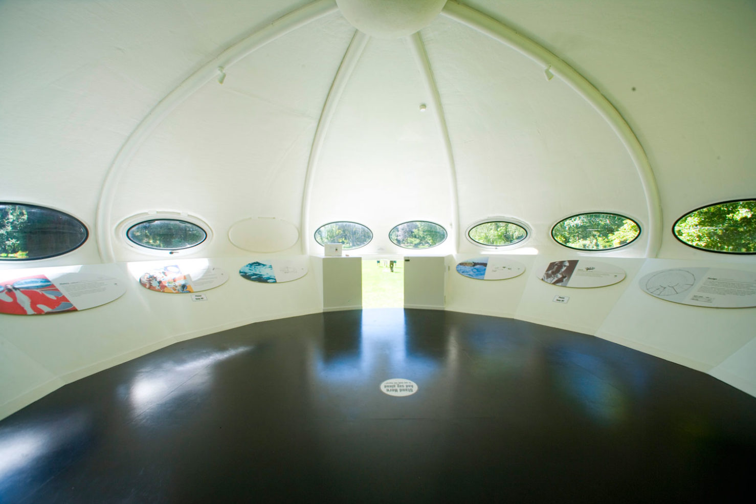 interior of a flying saucer home