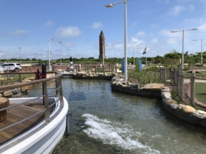 The water feature at Jones Beach West Games. a mini-golf course