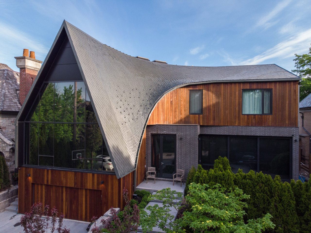 a home with a zinc roof, A-House