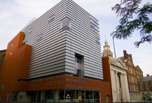 exterior of a museum addition at RISD