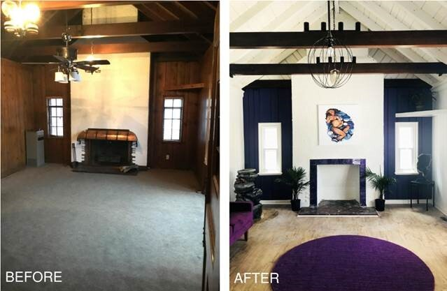 A before and after photo of the clinic