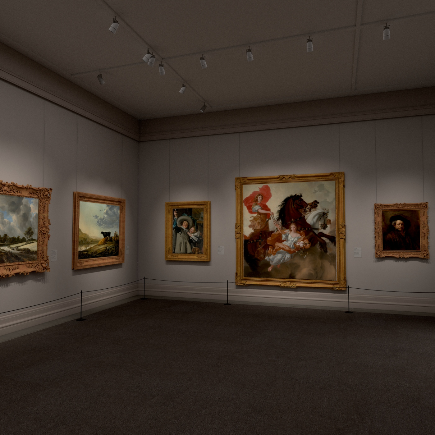 virtual view of a museum gallery