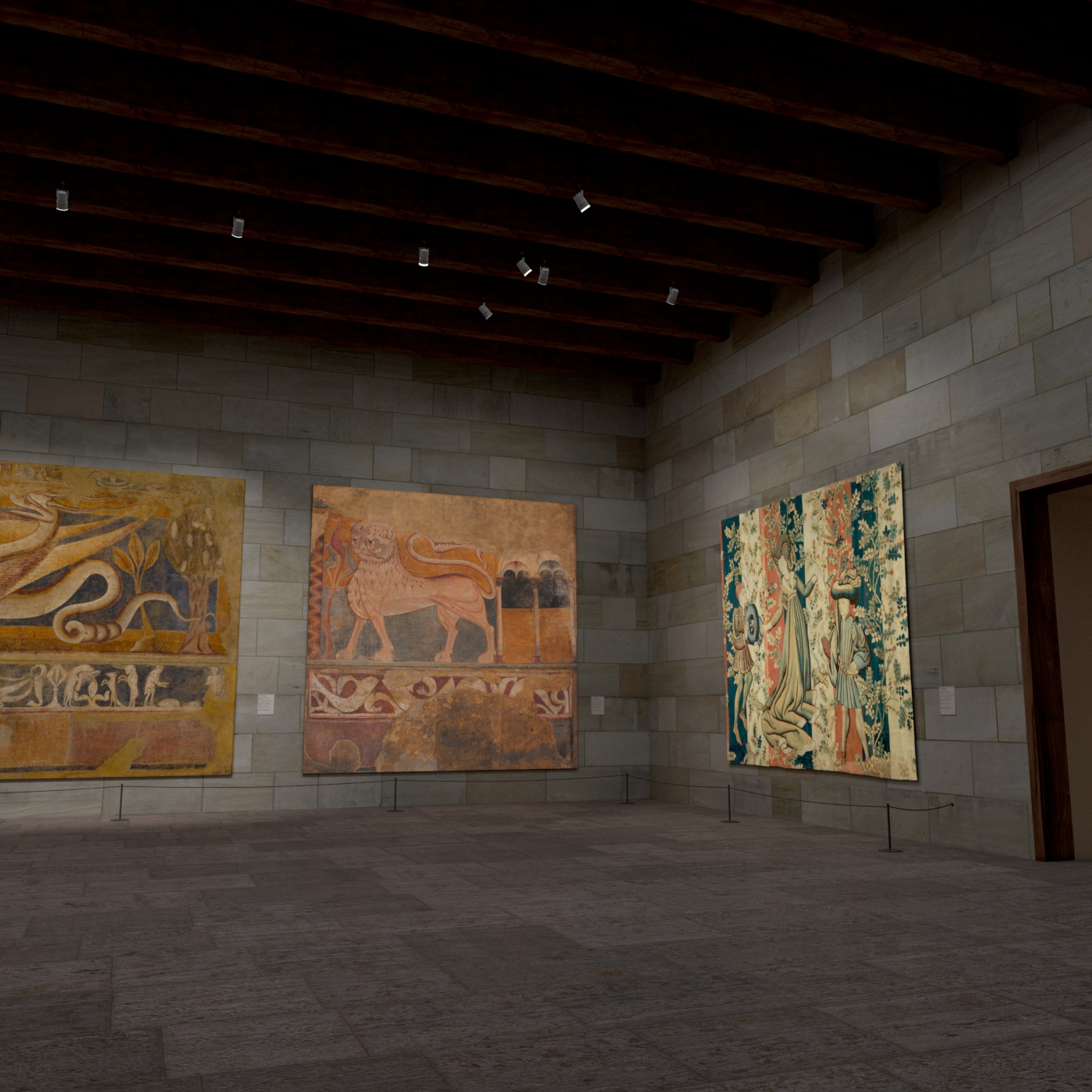 virtual view of a museum art gallery